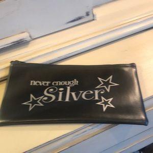 Never Enough Silver Money Bag